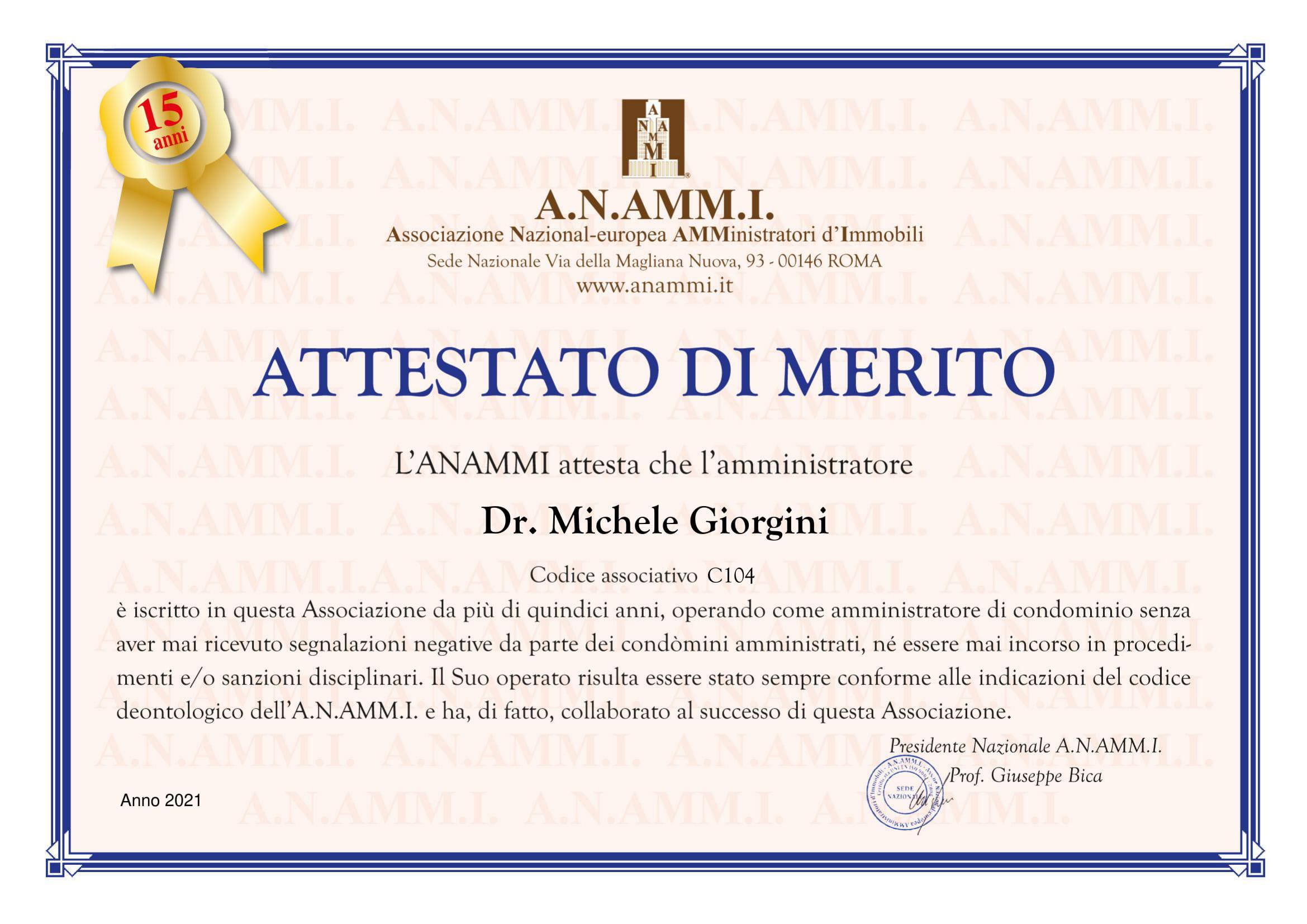 Attestatao di MERITO Anammi Dr. M.Giorgini-1